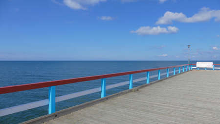 Beach in Palanga. One of the most popular Lithuanian beaches with a long pier, a sandy place frequented by tourists in the summer. Popular tourist resort.