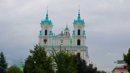 Catholic church in Grodno, Belarus. The temple is a place of religion and worship, one of the examples of multiculturalism of the city and the country.