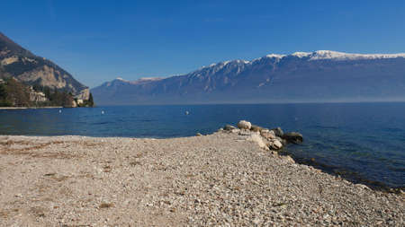 View of Lake Garda - one of the most beautiful regions of Italy often visited by tourists. Stok Fotoğraf