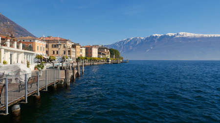 The city of Gargnano - one of the most beautiful cities on the Italian lake.