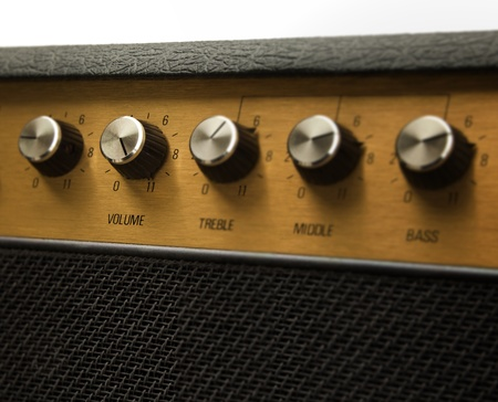 Guitar amplifier with volume control set at eleven photo