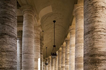 st  peter's square: Bernini colonnade around St Peters Square, Rome