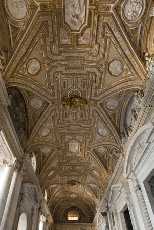 Ceiling, entrance to St Peters basilica, Rome