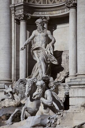 Trevi Fountain, Rome, detail of central figure photo