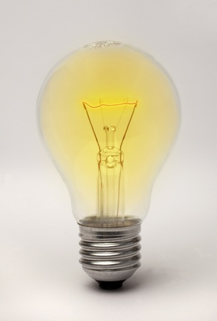 apparently: Edison screw fitting lightbulb apparently glowing Stock Photo