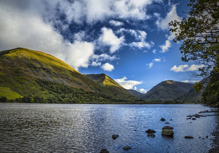 lake district england: Brotherswater and Hartsop Dodd, Patterdale, Lake District, England Stock Photo