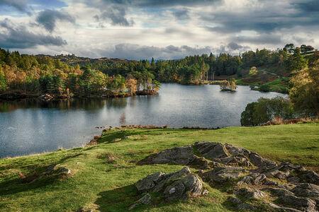 Tarn Hows, near Hawkshead, Lake District, England Stock Photo