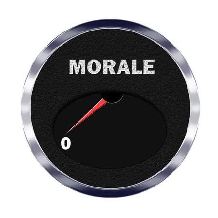 Illustration of vehicle type instrument gauge showing morale level at zero Reklamní fotografie - 27711849