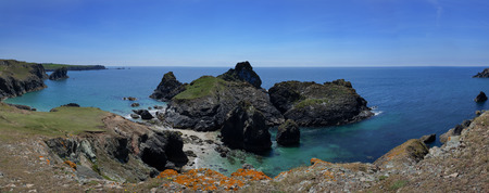 Kynance Cove, Cornwall, no people, panorama Reklamní fotografie