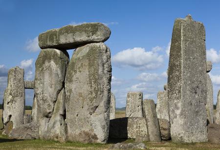 stonehenge: Closeup of Stonehenge trilithons on sunny day