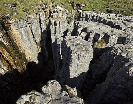 chasm: Buttertubs rock chasm near Thwaite, Swaledale
