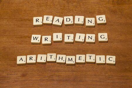 lectura y escritura: Juego de fichas de letras deletreando lectura escritura aritm�tica