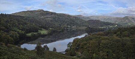 cumbria: Grasmere Cumbria panoramic view from Loughrigg Terrace