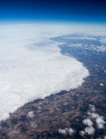 precipitation: Weather front seen from altitude, vertical format