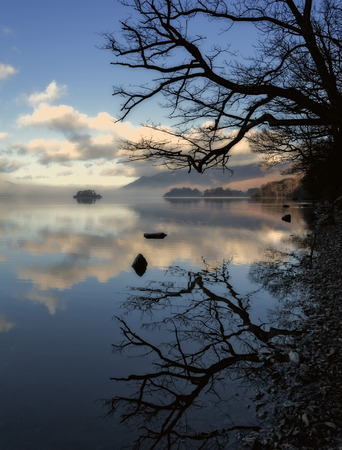 crag: Derwentwater, Keswick, Cumbria, looking towards Friars Crag