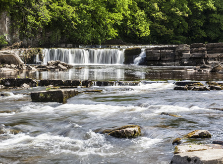 north yorkshire: Richmond Falls on the River Swale, North Yorkshire