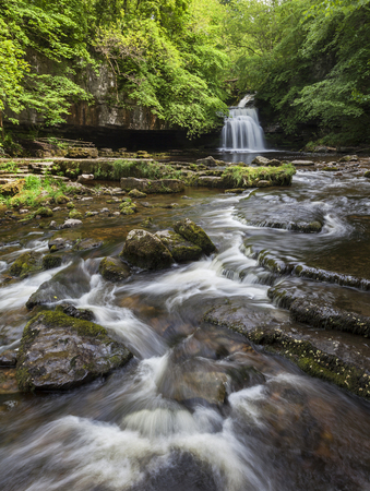 wensleydale: West Burton Falls on Walden Beck, Wensleydale, North Yorkshire