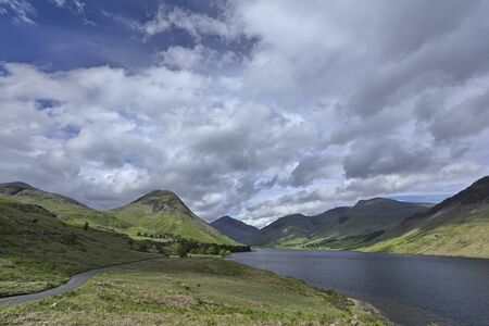 gable: Wastwater looking towards Yewbarrow, Great Gable and Scafell