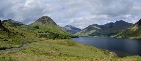 unspoilt: Wastwater panorama looking towards Yewbarrow, Great Gable and Scafell