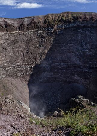 emanation: Steam escaping from vent in crater of Mount Vesuvius, Naples, Italy