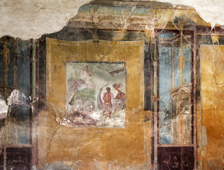 tragic: Fresco in the House of the Tragic Poet in Pompeii