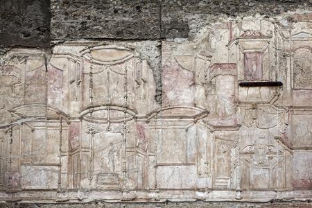 friso: Friso en el baño romano en Pompeya Terme Stabiane