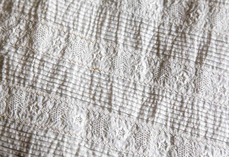 baptismal: Detail of antique lace Christening gown