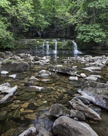 wensleydale: Cotter Force waterfall near Hawes in the Yorkshire Dales Stock Photo