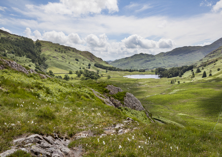 langdale pikes: Blea Tarn from Side Pike in Little Langdale Stock Photo
