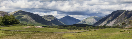 lake district: Panorama of Wasdale Head in the Lake District