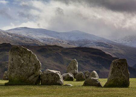 Castlerigg stone circle near Keswick, Cumbria, in winter