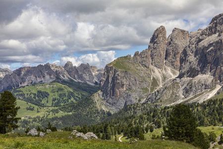 the italian dolomites near sassolungo trento