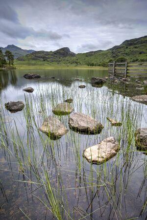 Blea Tarn Lake District looking towards the Langdale Pikes