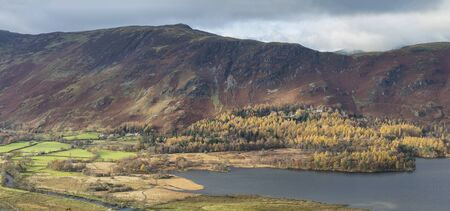 catbells and maiden moor above derwentwater and grange lake district
