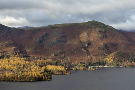 Catbells in autumn from surprise view near keswick lake district Imagens