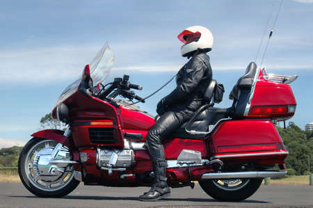 Motorcycle and Rider Stock Photo - 568035