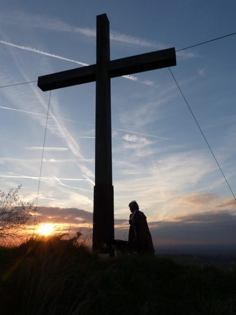The Cross at Mellor in the Peak District, UK photo