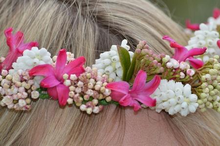 A Circlet in a ladies hair