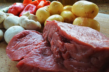 vegtables: Steak and Vegtables Stock Photo