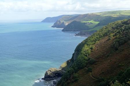 lynmouth: The Coast around Woody Bay, Devon, UK