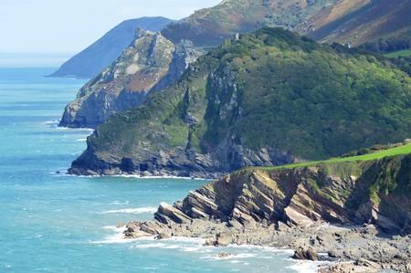 lynton: The Coast around Woody Bay, Devon, UK