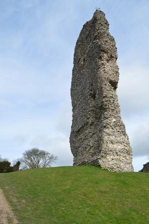 Ruins of Bramber Castle West Sussex UK