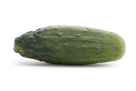 Fresh cucumbers on isolated white background