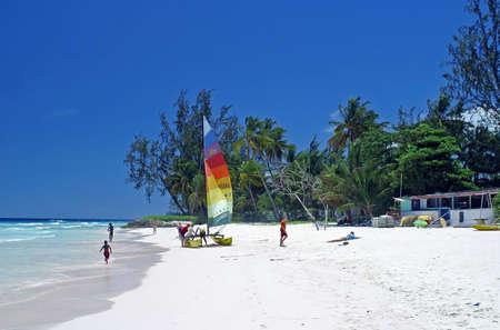 barbados: beautiful secluded rockley beach, barbados