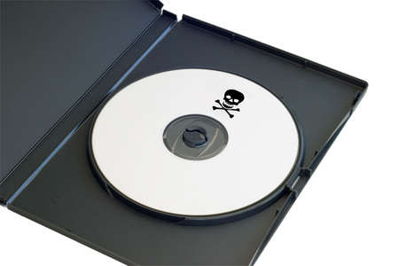 dvdr: a pirated dvd with a clipping path