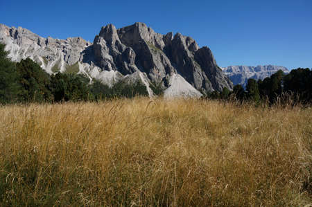Alp landscape in val gardena  South tyrol
