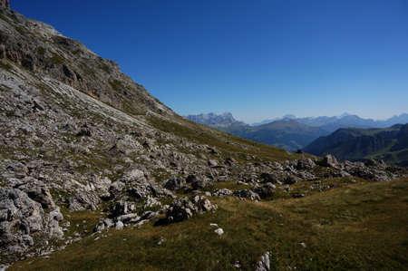 Views of the South Tyrol mountains and Dolomites  Pordoi