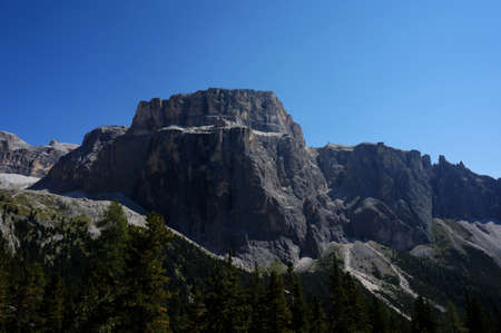 Massive rock formations in South Tyrol
