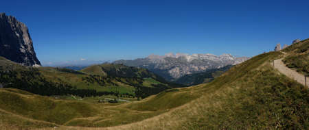 Fantastic panoramic view in the Dolomites South Tyrol