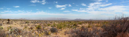 Panoramic view of the Chihuahuan Desert in Big Bend National Park, USA
